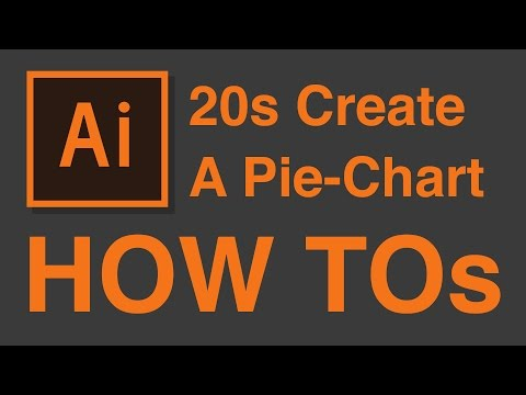 How to create simple Pie-Chart in 20 Seconds - Illustrator CC Tutorial