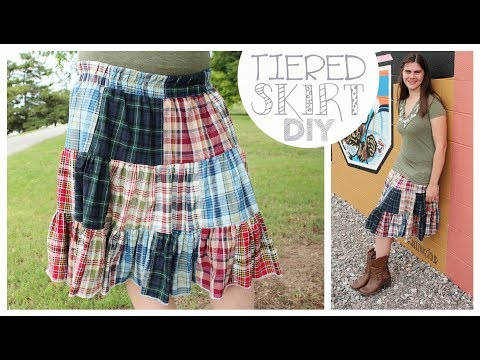 Tiered Twirly Skirt How to | Curtain to Clothes Refashion | Whitney Sews