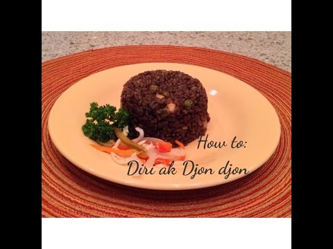 ❤ Love For Haitian Food - Episode 9 - How to Cook Diri Djon Djon  (Black mushroom rice w/ shrimp)