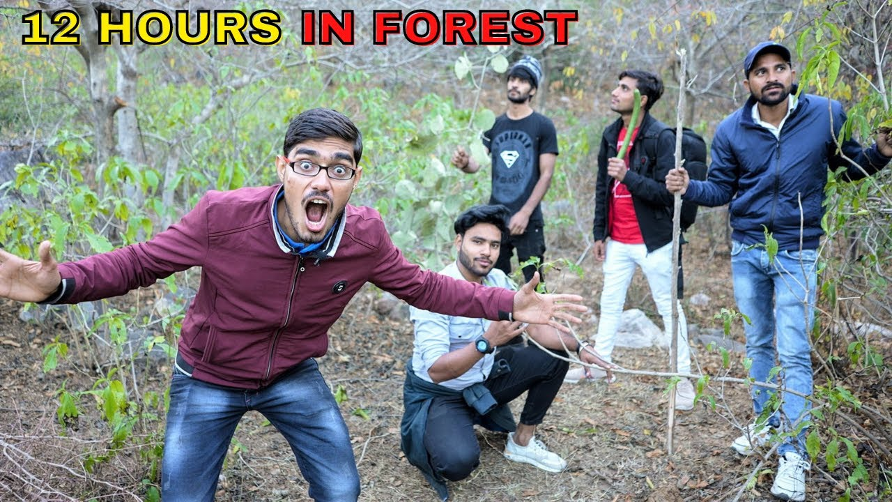 12 Hours in Deep Forest Challenge | Haunted😱 *DO OR DIE*
