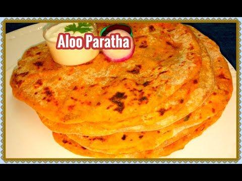 Aloo Paratha Recipe in Telugu-Restaurant Style Aloo Stuffed Masala Paratha-Kids favorite recipe-