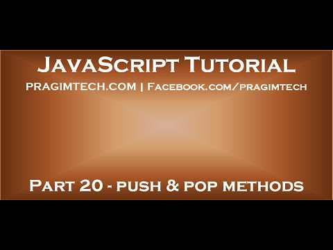 JavaScript array push and pop methods