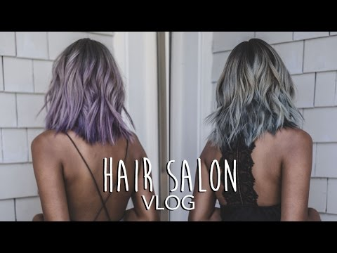 Hair Salon Vlog: From White Blonde To Lavender Balayage To Silver Grey Hair