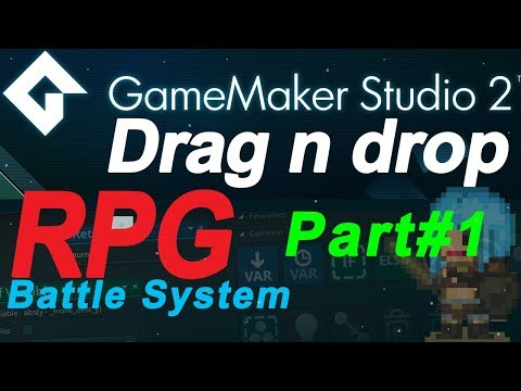 - Game Maker Studio 2: Turn based rpg battle system tutorial PART#1 - no coding ( DnD) Drag and Drop