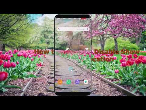 Android Nougat : How to Enable or Disable Show Pointer location in Samsung Galaxy S8 or S8+