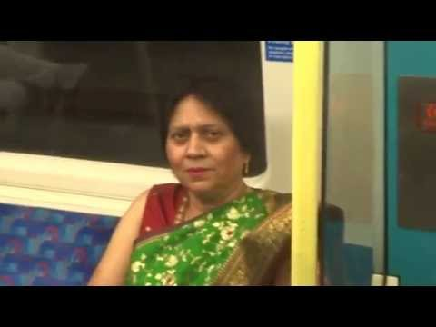 Aruna & Hari Sharma at London Bridge for Jubilee Line to North Greenwich the O2, Jun 07, 2016
