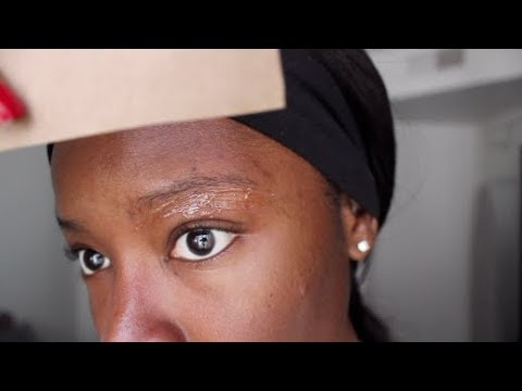 HOW I WAX MY EYEBROWS AT HOME USING PAPER BAGS!