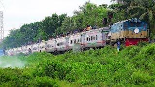 Crowded Rangpur Express Train during Eid Festival- Bangladesh Railway