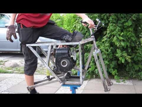 Homemade pitbike with lawnmower engine #4