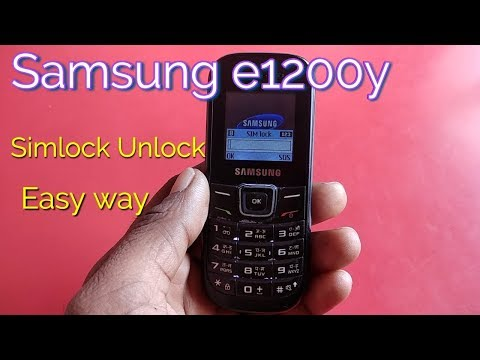 Samsung e1200y sim lock and phone lock unlock without any box || Verified Tricks