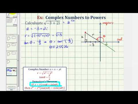 Ex: Find the Square Root of a Complex Number (DeMoivre's Theorem)