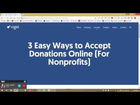 accept donations online 2017