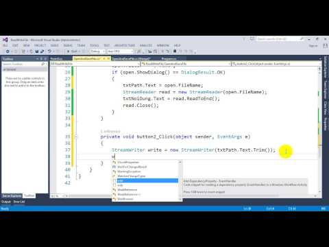 Open and Save file in C#