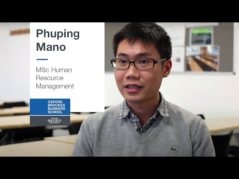 MSc Human Resource Management - Phuping Mano