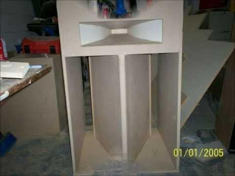 diy floor speakers.*Klipsch la scala vintage+line array*