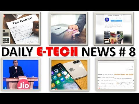 E Tech News #8 Warning From IT Dept, Job From Jio, Training For ATM Robbery, Amazon Richest