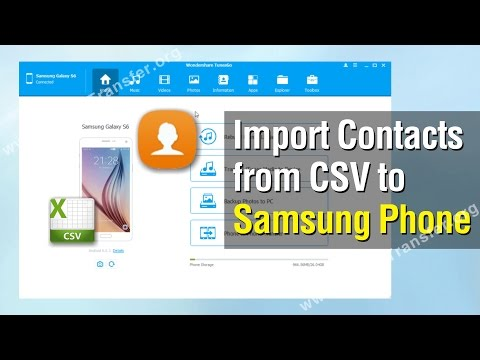 How to Import Contacts from CSV to Samsung Phone
