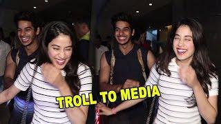 Jhanvi Kapoor & Ishaan Khattar Funniest Troll To Media Reporter