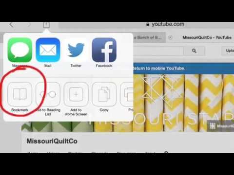 Part One: Organizing Bookmarks on iPad
