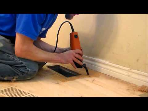 How to install a flush mount vent into an existing floor.