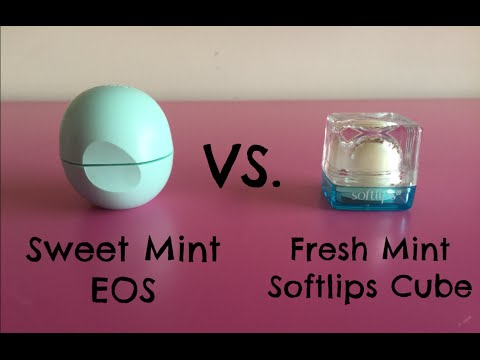 Sweet Mint EOS vs. Fresh Mint Softlips Cube