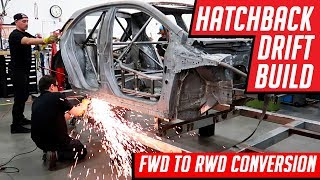 Drift Car Build FWD Corolla Hatchback to RWD 1000 Horsepower Conversion