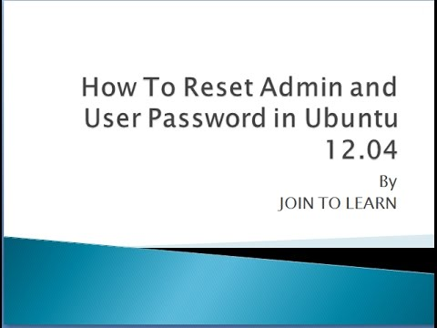 How to Reset Password in Ubuntu OS in Hindi