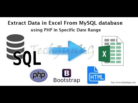 Extract Data in Excel From MySQL database using PHP in Specific Date Range