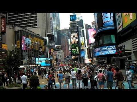 Lil' walk through Times Square 'till Central Park