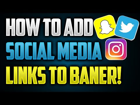 How To Add CLICKABLE Social Media Links To YouTube Banner (2017 Tutorial)
