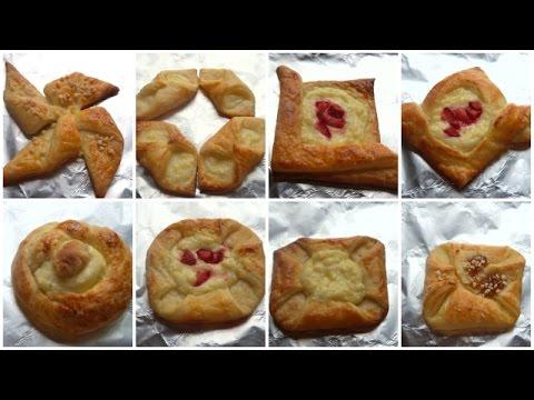 Danish Pastry Shapes - How to Shape Danish Pastries - Fatemahisokay