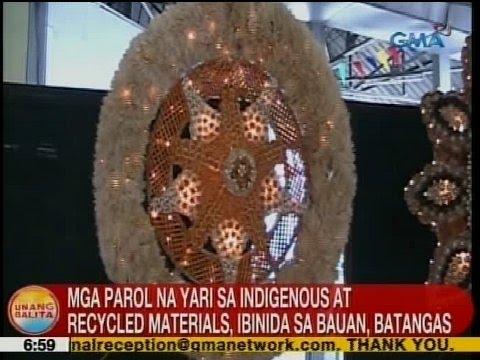 UB: Mga parol na yari sa indigenous at recycled materials, ibinida sa Bauan, Batangas
