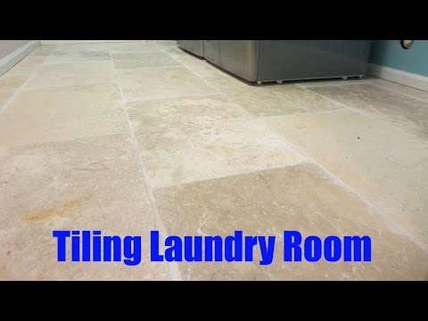 How to Tile a Laundry Room
