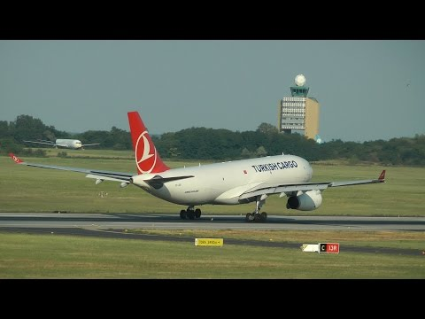 Turkish Airlines Cargo Airbus A330-200F landing