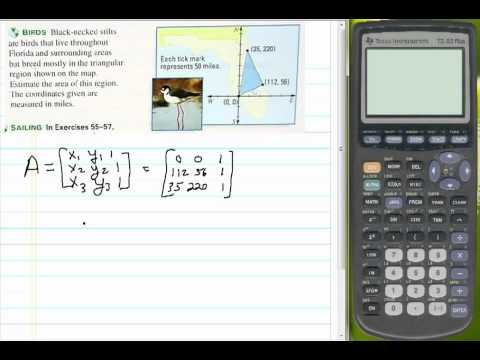 Finding Area of a Triangle using Matrices