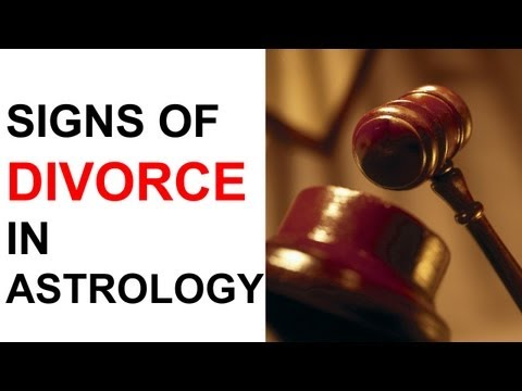 (Signs of Divorce) in Astrology (Horoscope Love Match)