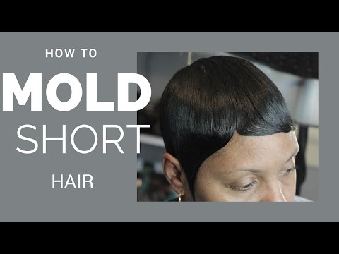 how to mold short hair | black women hair styles | For beginners