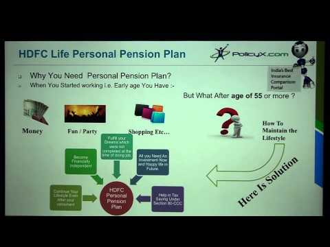 Best Pension Plan in india | Policyx | HDFC Personal-Pension-Plus