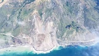 Mudslide buries stretch of California