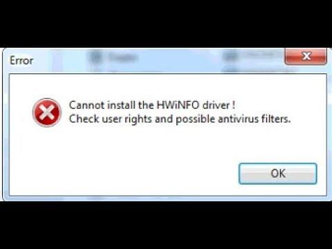 🚩 Cannot install HWiNFO driver