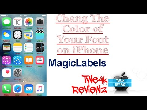 Change The Color of Your Font on iPhone!