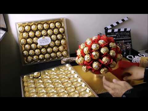 DIY 75 chocolates Fererro Rocher Tree