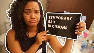 HER WORST DECISION EVER MADE!!! TATTOO PUNISHMENT GONE WRONG!