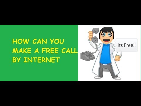 How can we free phone call by internet..