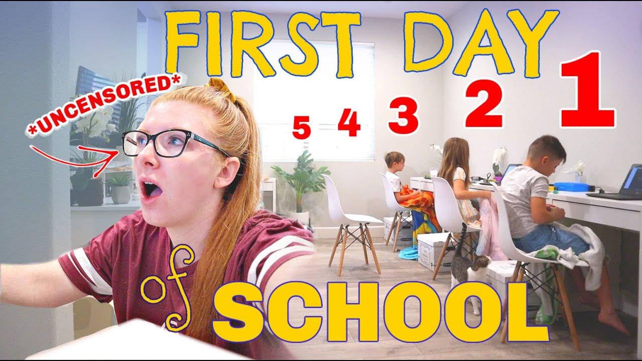 REAL & RAW 1st day of school w/ 5 kids (5th grade - preschool) *uncensored*