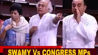 Subramanian Swamy Vs ALL Congress MPs in Parliament | FUNNY