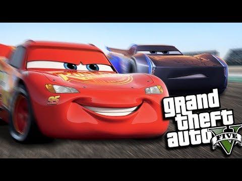 GTA 5 Mods - LIGHTNING MCQUEEN GOES DRAG RACING MOD (GTA 5 PC Mods Gameplay)