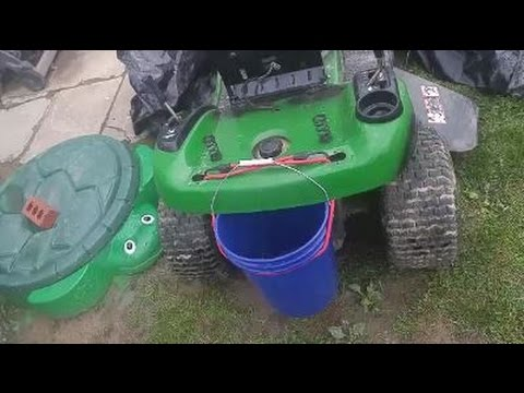 How to Install a Bucket on a John Deere LA100 Riding Lawnmower