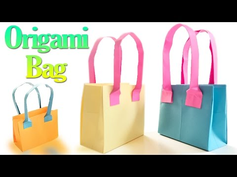 How to Make an Origami Bag Step by Step | Paper Bags Tutorial | Origami VTL