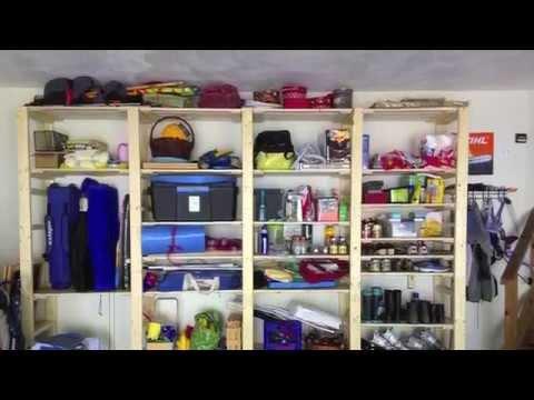 DIY: How to Build a Garage Shelf / Storage System